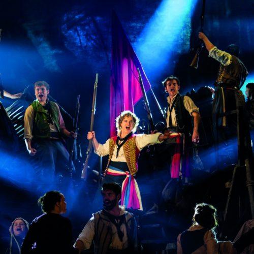 Ashley Gilmour As Enjolras Harry Apps As Marius And Company In Les Misérables Photograph Johan Persson