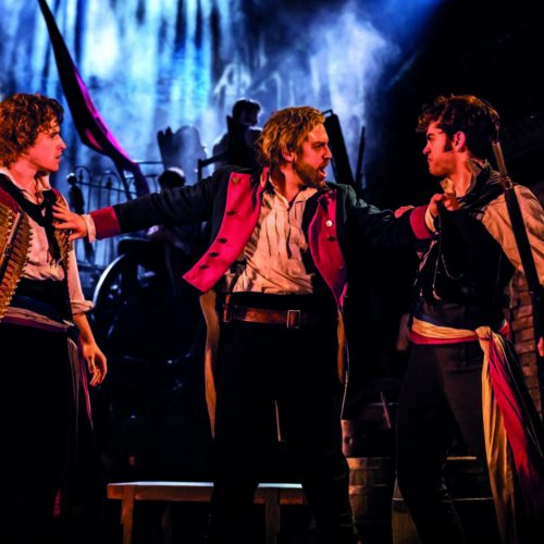 Ashley Gilmour As Enjolras Jon Robyns As Jean Valjean Harry Apps As Marius In Les Misérables Photo Johan Persson