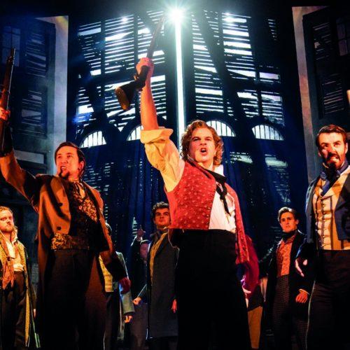 Ashley Gilmour As Enjolras And Company In Les Misérables Photograph Johan Persson