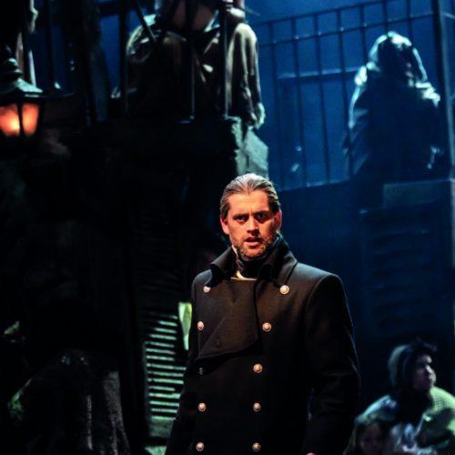 Bradley Jaden As Javert In Les Misérables Photograph Johan Persson