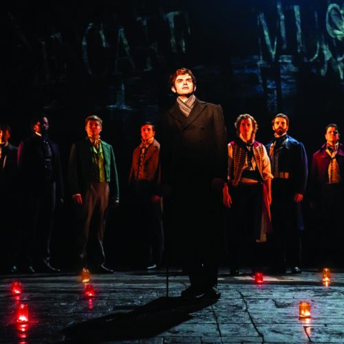 Harry Apps As Marius And Company In Les Misérables Photograph Johan Persson