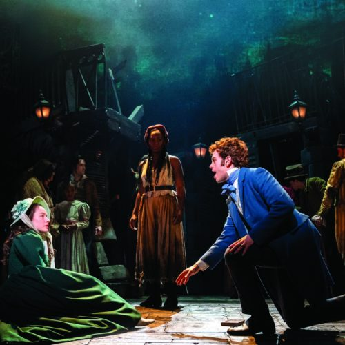 Lily Kerhoas As Cosette Harry Apps As Marius And Shan Ako As Eponine In Les Misérables Photograph Johan Persson